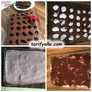 puding dolgulu kek nasıl yapılır