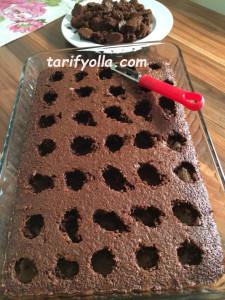 dolgulu kek yapımı