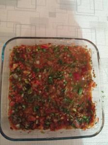 acılı ezme salatası