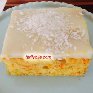 havuçlu muhallebili kek