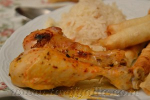baharatlı tavuk baget