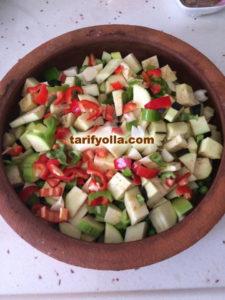 sebzeli güveç yapımı