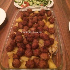 fırında patatesli misket köfte