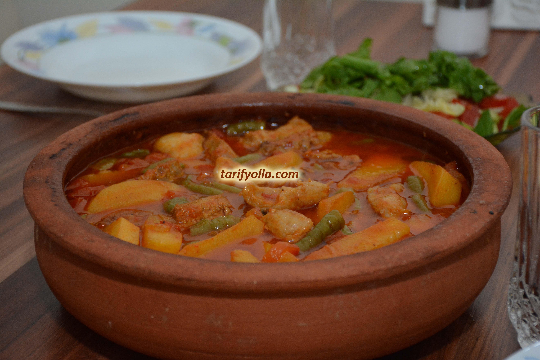 Sulu Tavuklu Patates Yemeği Videosu