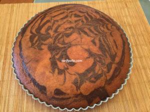 tart kalıbında zebra kek