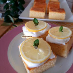 glazürlü limonlu kek