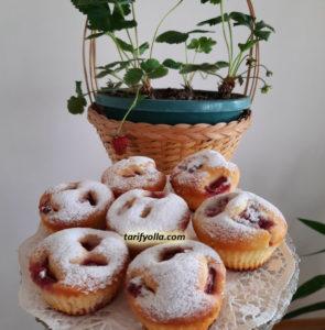 çilekli muffin tarifi